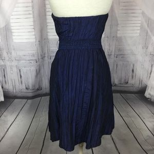 Betsey Johnson Dresses - Betsy Johnson Dress Taffeta Blue Strapless 8